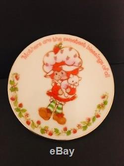 Plaque De Fête Des Mères En Porcelaine Et Sablés Aux Fraises American Greetings Wc 1984