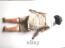 Porcelaine Allemande Antique Chine Tête Poupée Guerre Civile Plat Haut Haut-relief Vintage