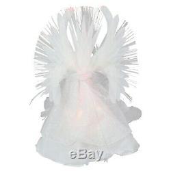 Porcelaine Lighted Ange De Noël Arbre Topper Doll Décoration Vintage Blanc Accueil