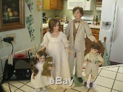 Porcelaine Poupées La Famille