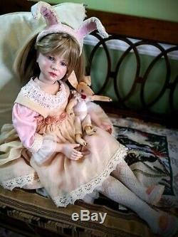 Porcelaine Vintage Annie Hildegarde Gunzel Poupée, Restaurée Et Custumized