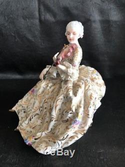 Porodain Capodimonte, Collezione Fabris, Poupée Figurine Vintage Lady Violoniste