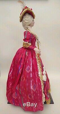 Poupée Art Historique Marin Chiclana Rare Vintage Des Années 70 Marie Antoinette 18