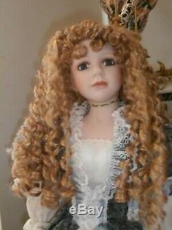 Poupée Ashley Belle De Style Victorien Vintage, 36 Pouces, Nouveau Porcelaine Bisgue