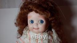 Poupée Aux Yeux Googly Vintage En Porcelaine De 20 Bisques Signée Maria Schrock 1985