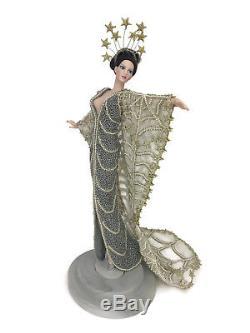 Poupée Barbie En Porcelaine Édition Limitée 1993 De Mattel Erte Stardust Sur Support