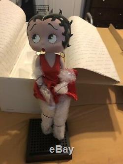 Poupée Betty Boop Vintage En Porcelaine Robe Rouge Danbury Menthe