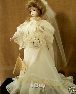 Poupée De Mariée En Porcelaine Isabel Vintage Classique Gibson Girl Par Gambina Series7512