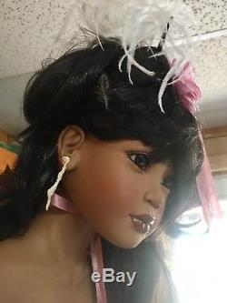Poupée De Porcelaine Afro-américaine Dwi Saptono Vintage, 36