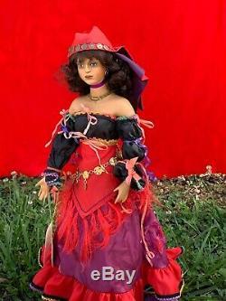 Poupée De Porcelaine Danseuse Gypsy Belly Vintage Retired 20 Paradise Galleries M17