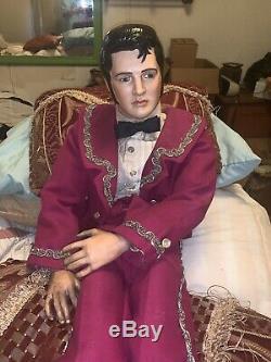 Poupée Elvis Vintage En Porcelaine