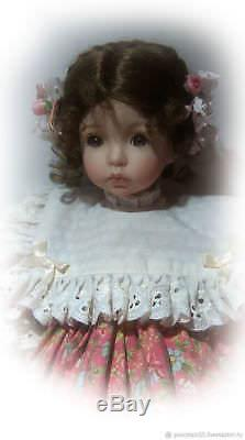 Poupée En Porcelaine Vintage Dianna Effner Emily Rare
