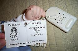 Poupée Fabriquée À La Main En Porcelaine Vintage Pour Bébé / Avec Batterie / Pleure De Lena Murphy 19
