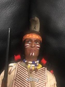 Poupée Masculine Amérindienne Vintage Algonquin Tribe