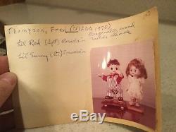 Poupée Niada Vintage En Porcelaine Avec Poupée L'il Sunny 7 Avec Paperwork Girl Grands Yeux