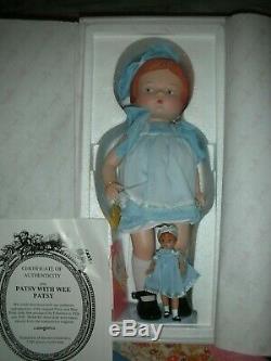 Poupée Patsy En Porcelaine Effanbee Rare Avec Wee Pasty P226 Dans Une Boîte Le Vers 1996 14