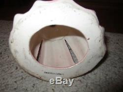 Poupée Porte-serviette / Porte-bougie En Porcelaine Rose Des Années 1950, Kreiss