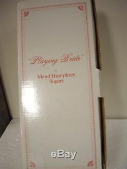 Poupée Vintage Collection Hamilton Par Maud Humphrey Bogart Mariée 16. 5