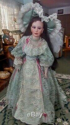 Poupée Vintage En Porcelaine De Judith Turner 1997 36all Original