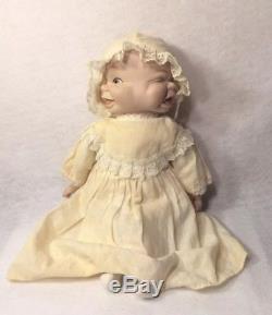 Poupée Vintage Porcelaine Creepy Weird Three Face Avec Tête Pivotante Et Vêtements 12