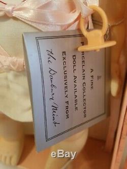 Poupée Vintage Tears Tears Vintage Danbury À La Menthe En Porcelaine Complète Dans Une Valise