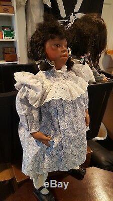 Poupée Vintage Voo Doo Mary Van Osdell Enfant Afro-américaine 24