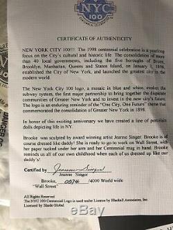 Poupée Wall Street Vintage Brooke 0574/4000 Par Jeanne Singer, Centenaire De New York