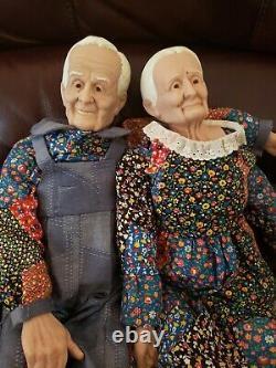 Poupées Couple Vintage Et Grand-père En Grand-mère Patchwork William Wallace Jr Vinyle