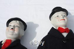 Poupées En Porcelaine Vintage Laurel And Hardy Par Albert E Prix Excellent État