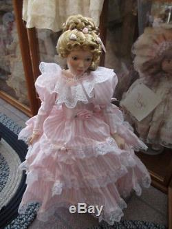 Poupées Jubilee Vintage Gorham Porcelaine Victoria Mère Et Fille 1992 Kh