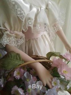 Priscilla 1993 Collection Hamilton Collection Pour Collectionneur De Poupées En Porcelaine Vintage