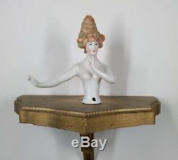 Rare Antique Porcelaine Boudoir Demi-poupée Bras Droit Bras Loin