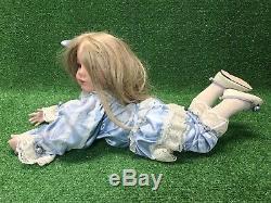 Rare Donna Rubert 1996 Couchant Vtg Down 24 Blue Eyed Girl # 127/2000 Fast Ship