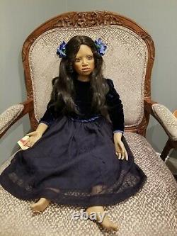 Rare Elite Dollscallie Par Christine Orange 38 Porcelain Doll Afro-américaine