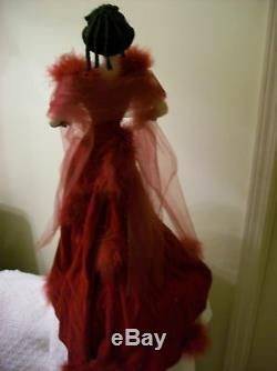 Rare, Honte Franklin Mint Porcelain Doll Vintage Scarlett O'hara Scarlett