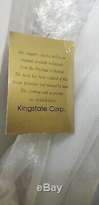 Rare Vintage Bisque Porcelaine Poupée De Collection Africaine Mariée Américaine 27 Haut