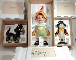 Rare Vintage Pinocchio, Figaro De Disney, Le Chat Et Ses Poupées En Porcelaine Pour Le Cricket Jiminy