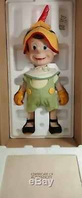 Rare Vintage Pinocchio, Figaro, Le Chat Et Les Poupées En Porcelaine Jiminy Cricket