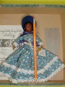 Rarest Vintage Ruth Gibbs Doll Black Girl Mib De Taille 7, Avec Livret Et Support Htf