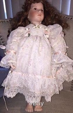 Réduction Finale! Vintage Emmy Chen Céramique 20 Irene Doll Signé 30/1000