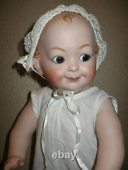 Reproduction Antique Googly Eyed Allemand Hertel 172 Bisque Porcelaine Schwab Doll