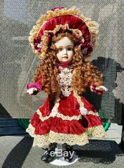 Reproduction De Collection Halopeau H Gillian Patricia Loveless Doll Porcelaine Nrfb
