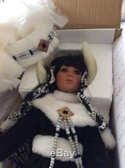 Rustie Poupée En Porcelaine Amérindienne Winter Moon 26 Vintage 80s Collectible