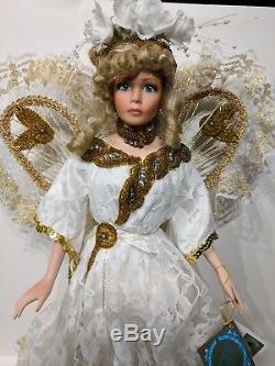 Rustie Poupée En Porcelaine Angellete Poupée Ange Vintage Rare 20