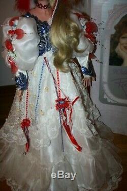 Rustie Vintage Liberty # 313/1000 Poupée En Porcelaine De 36 Pouces Belle Avec Boîte Stand