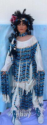 Rustie Vtg Native American Indian Princess 40 Vente De Poupées En Porcelaine