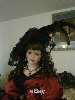 Style Victorien Rare Vintage Doll Main 28 Pouces Greffés Grand Bisque Porcelaine