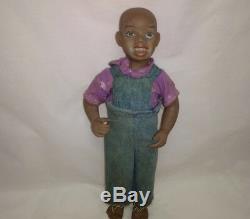 Tête De Poupée Garçon Americana African Vintage En Argile Et Porcelaine Nicodemus Rare & Kane Inc