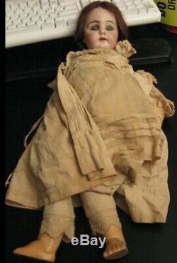 Très Vieux Et Le Corps En Porcelaine 1900 Compo Doll Grand Antique / Vintage Doll