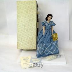 Vintage 18 Franklin Mint Havilland Melanie Allé Avec La Poupée De Porcelaine De Vent Avec Coa